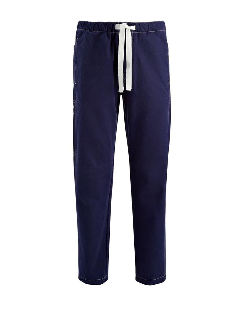 Workwear Cotton Abington Trousers in Marine