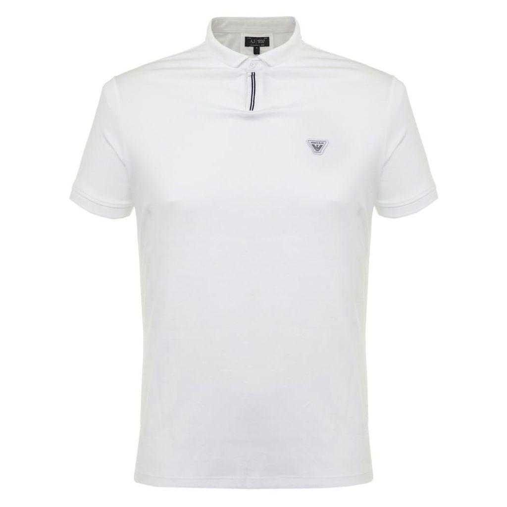 Armani Jeans White Polo Shirt 6X6F19