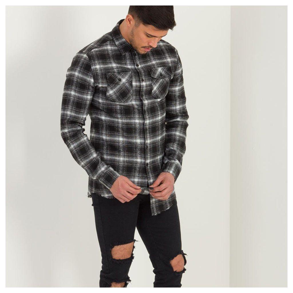 Maniere De Voir; Flannel Plaid Shirt - Checked Black