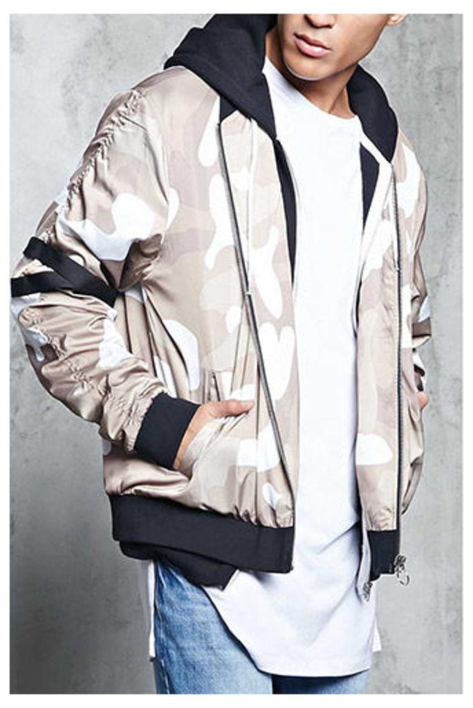 Camo Print Bomber Jacket