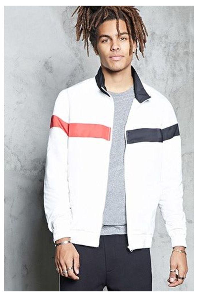 Colorblock High-Neck Jacket