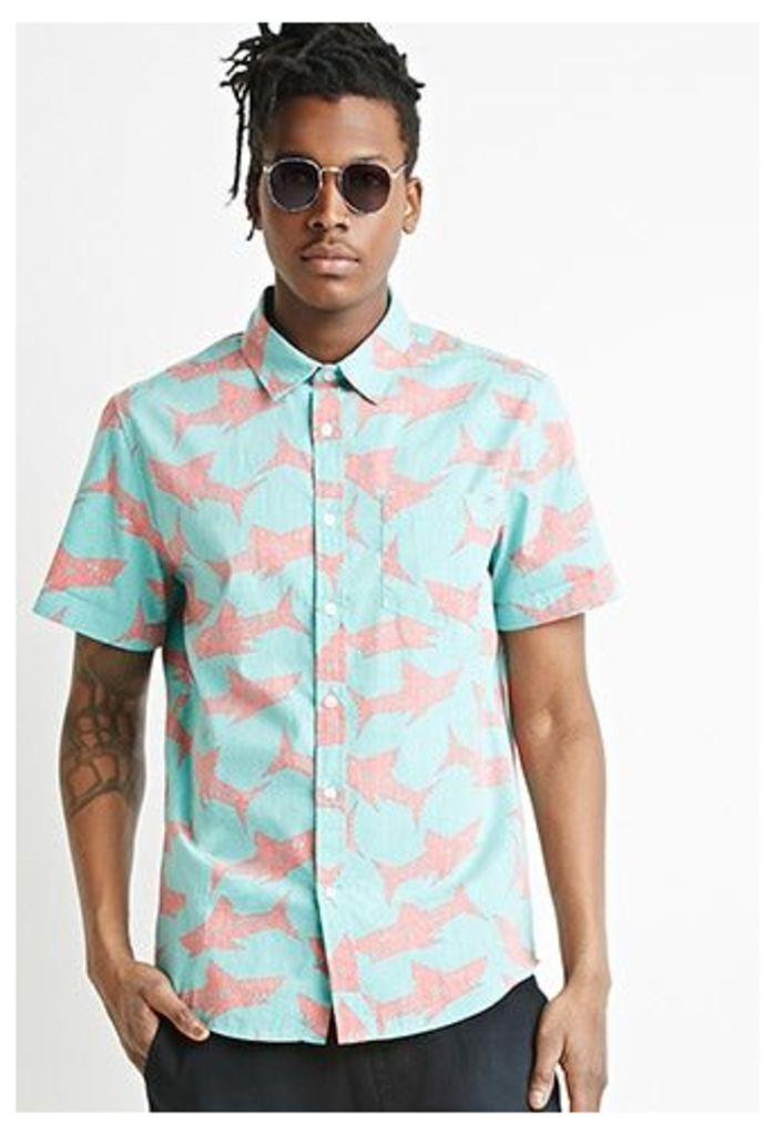 Reverse Shark Print Shirt