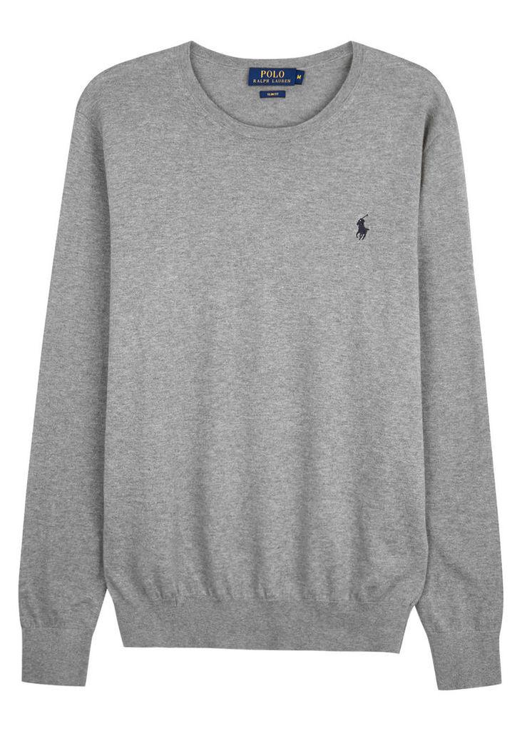 Grey cotton blend jumper