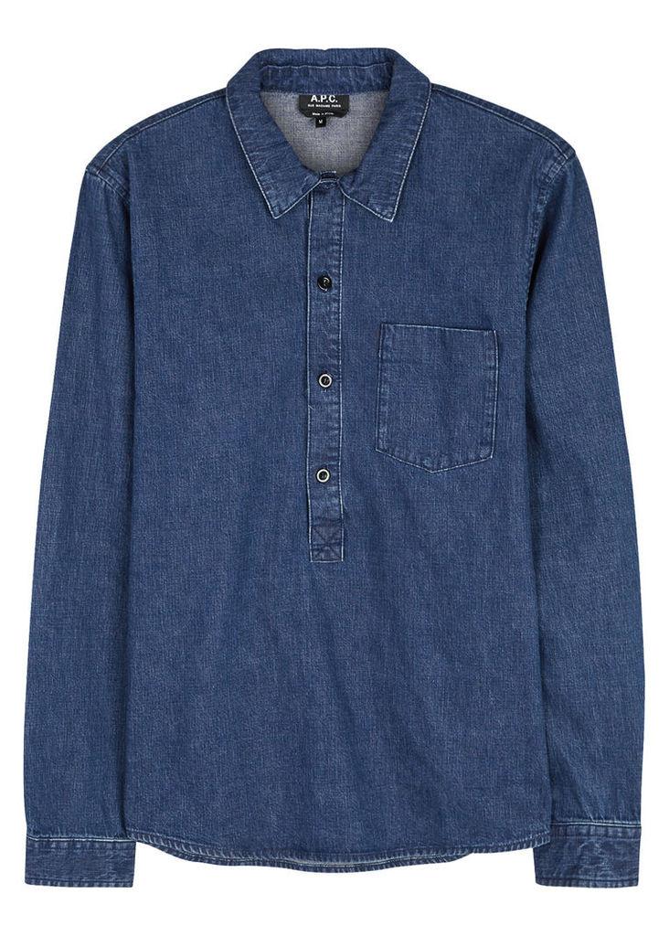 Duke blue denim shirt