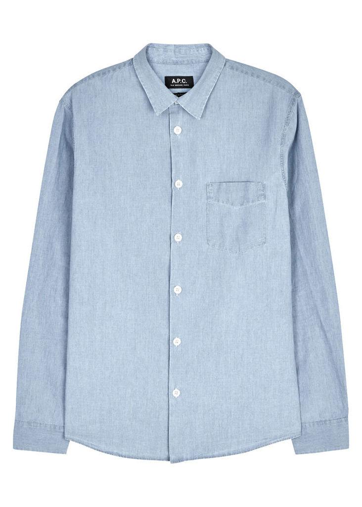 Xavier cotton chambray shirt