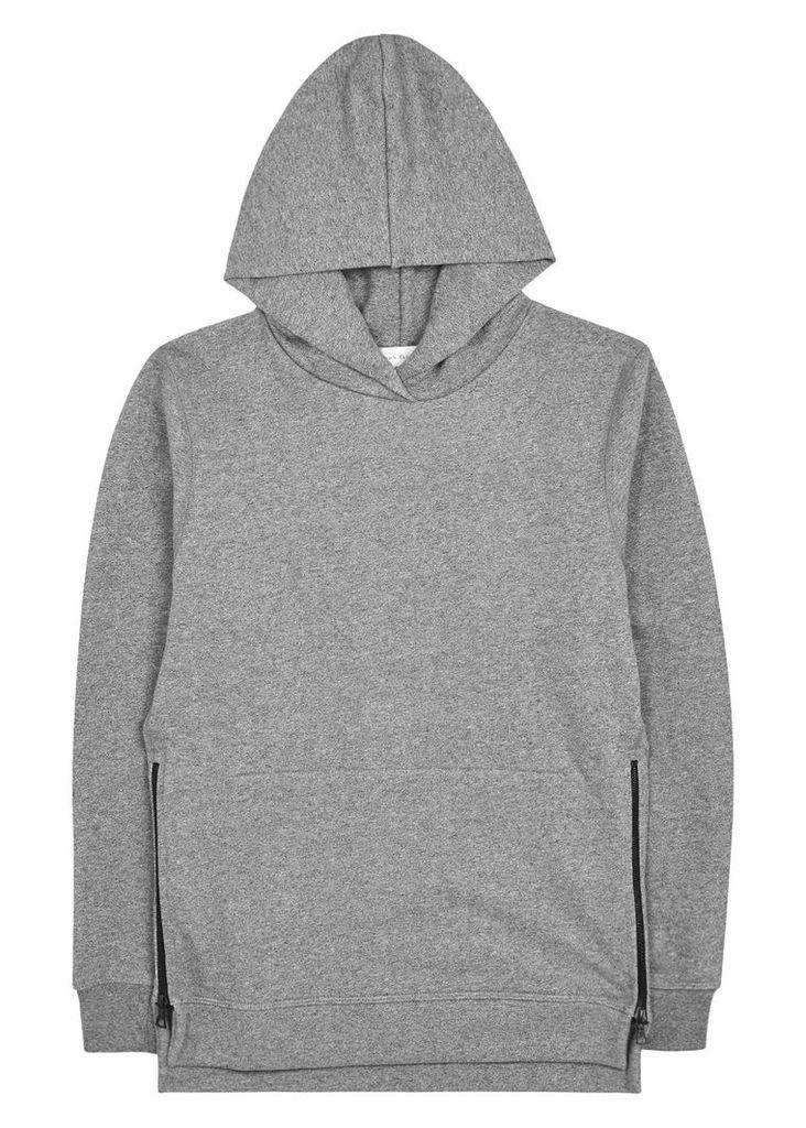Hooded Villain zipped cotton sweatshirt