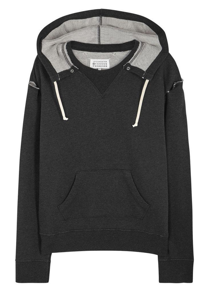 Anthracite cotton sweatshirt