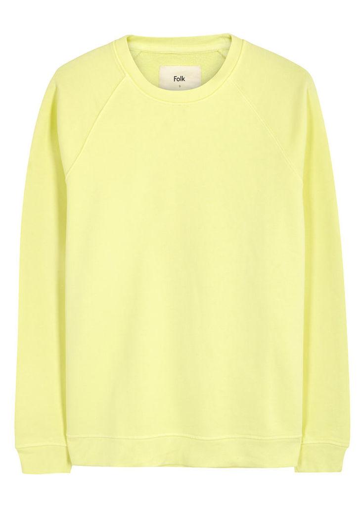 Yellow cotton sweatshirt