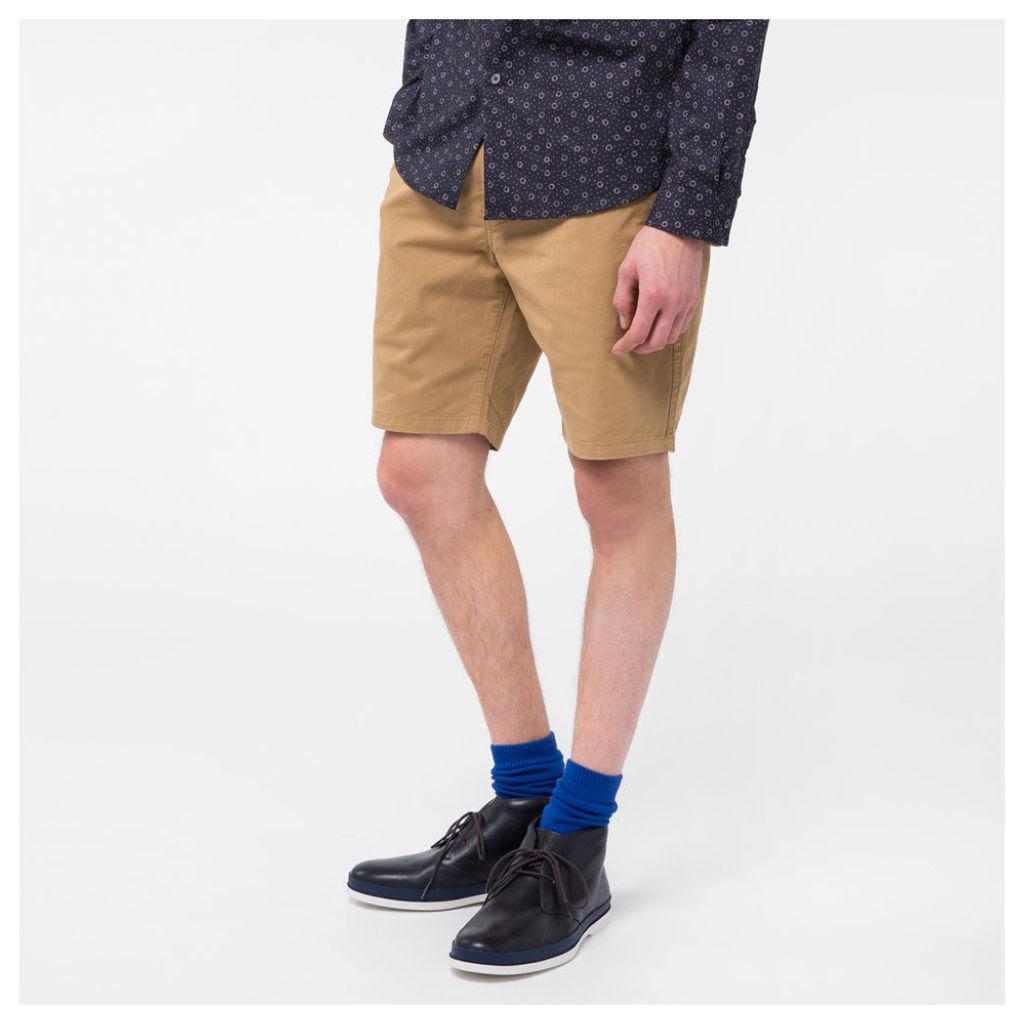 Men's Sand Garment-Dyed Stretch Pima-Cotton Shorts