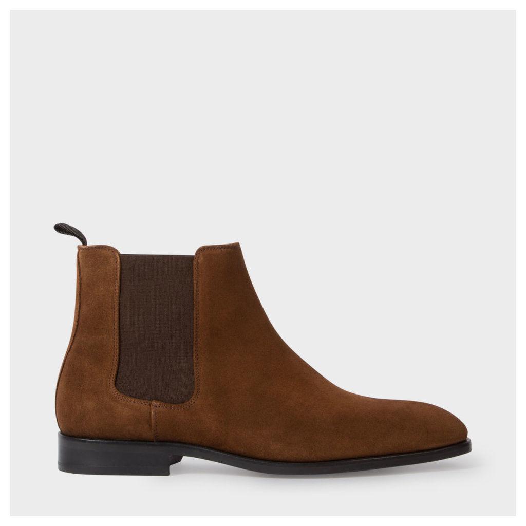 Men's Brown Suede 'Gerald' Chelsea Boots