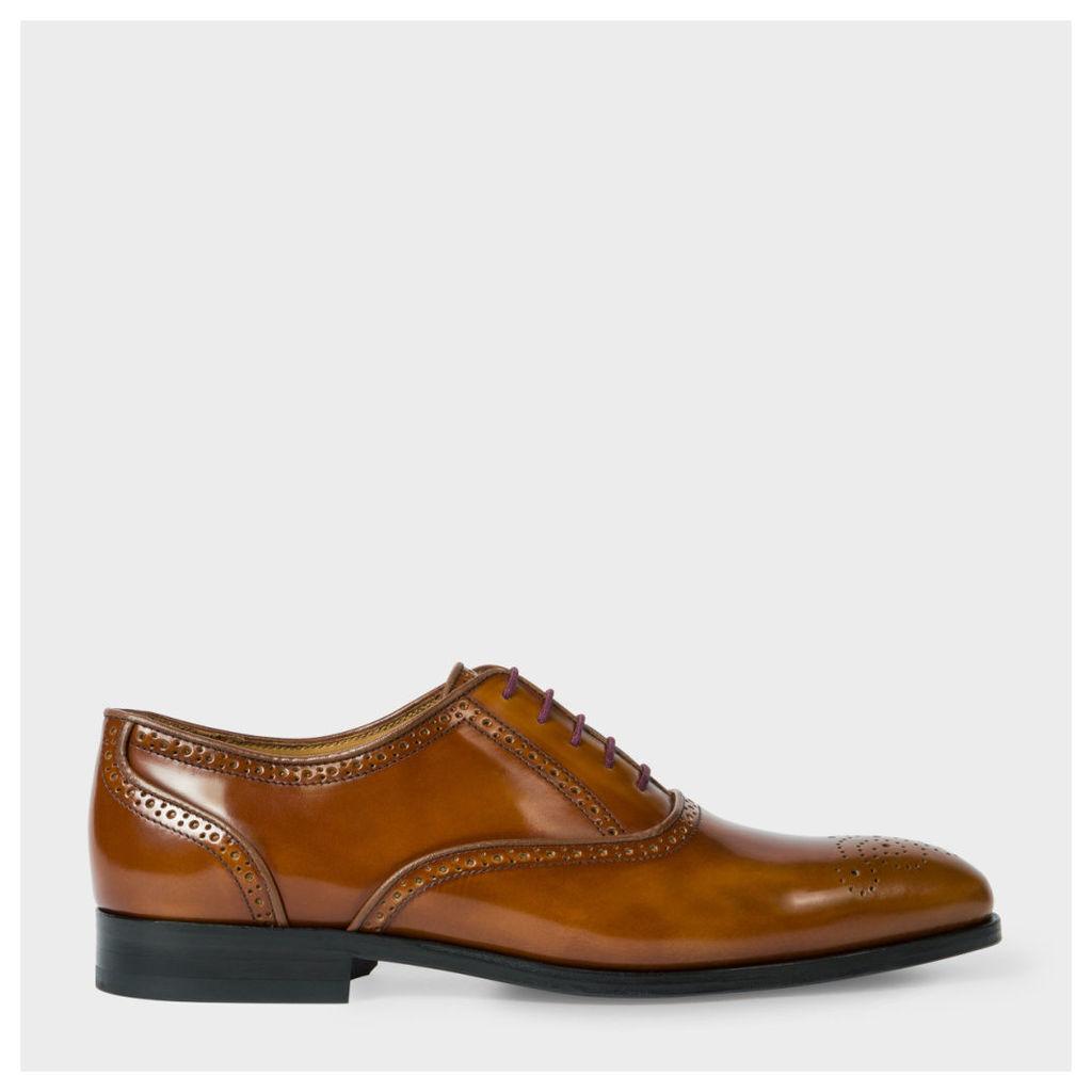 Men's High-Shine Tan Leather 'Gilbert' Brogues