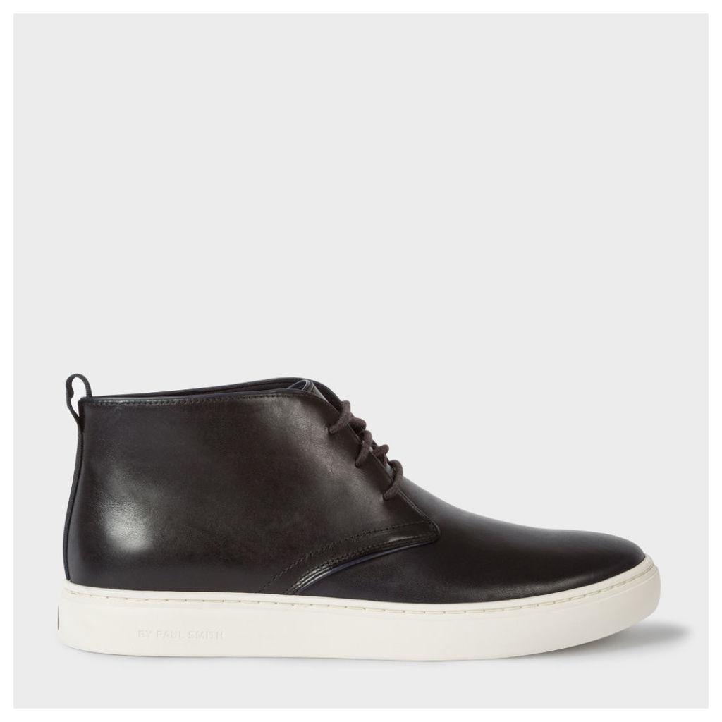 Men's Dark Navy Leather 'Fong' Chukka Boots