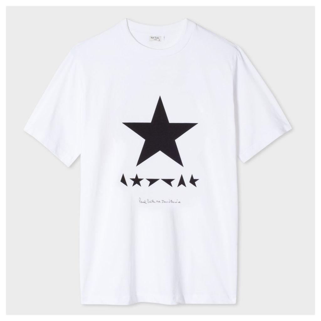 Paul Smith For David Bowie - White Blackstar Print T-Shirt