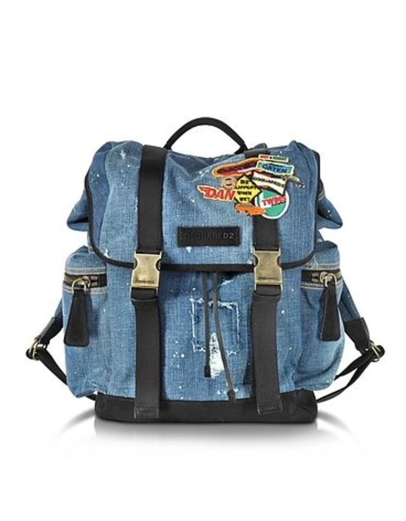DSquared2 - Denim Patch Backpack