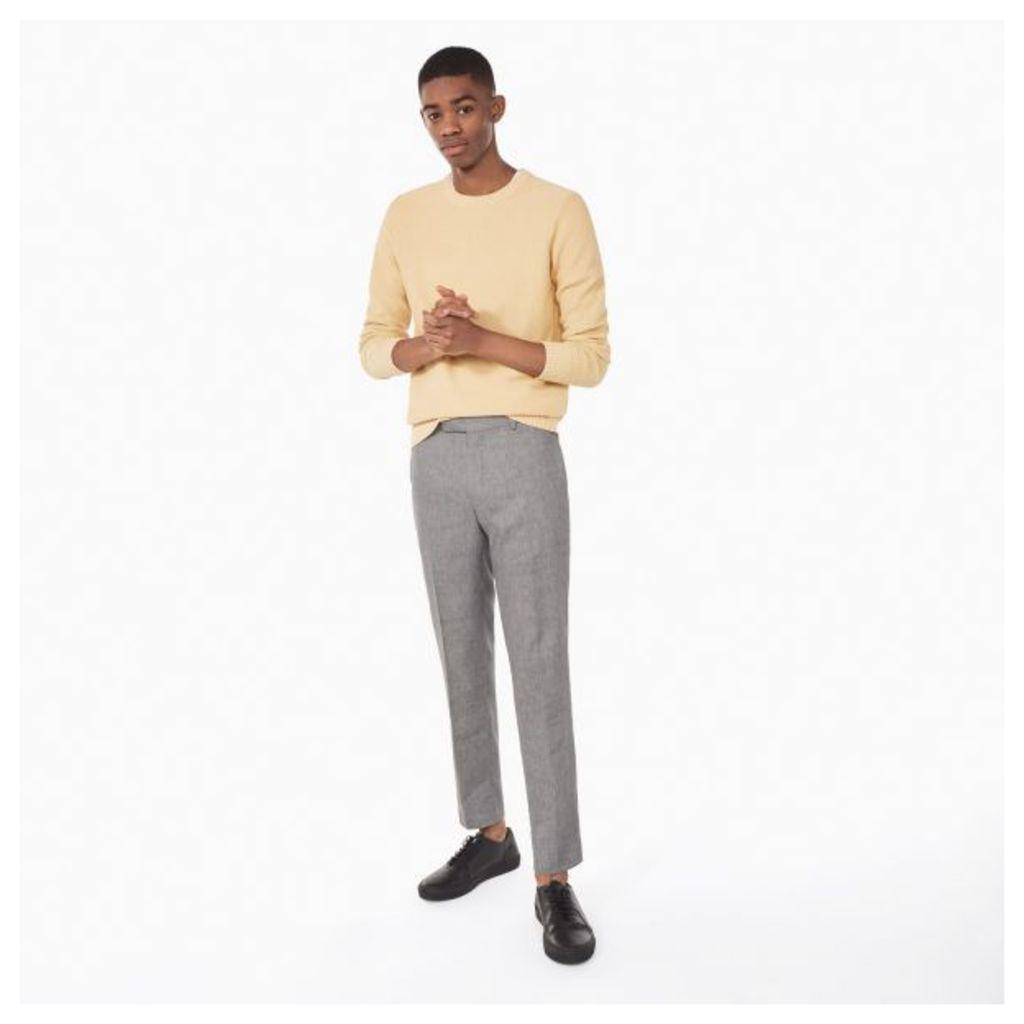 Linen Smarty Pants - Grey Melange