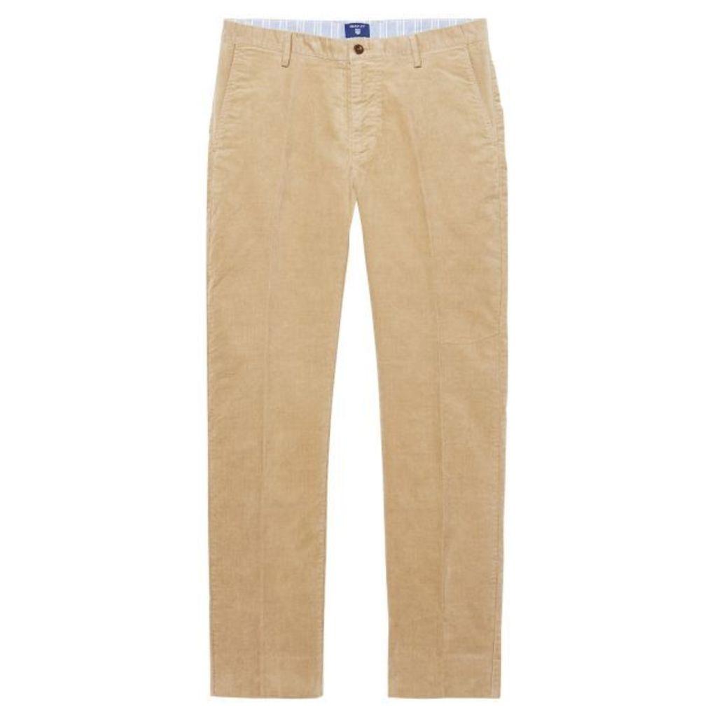 Tailored Fit Cord Trousers - Dark Khaki