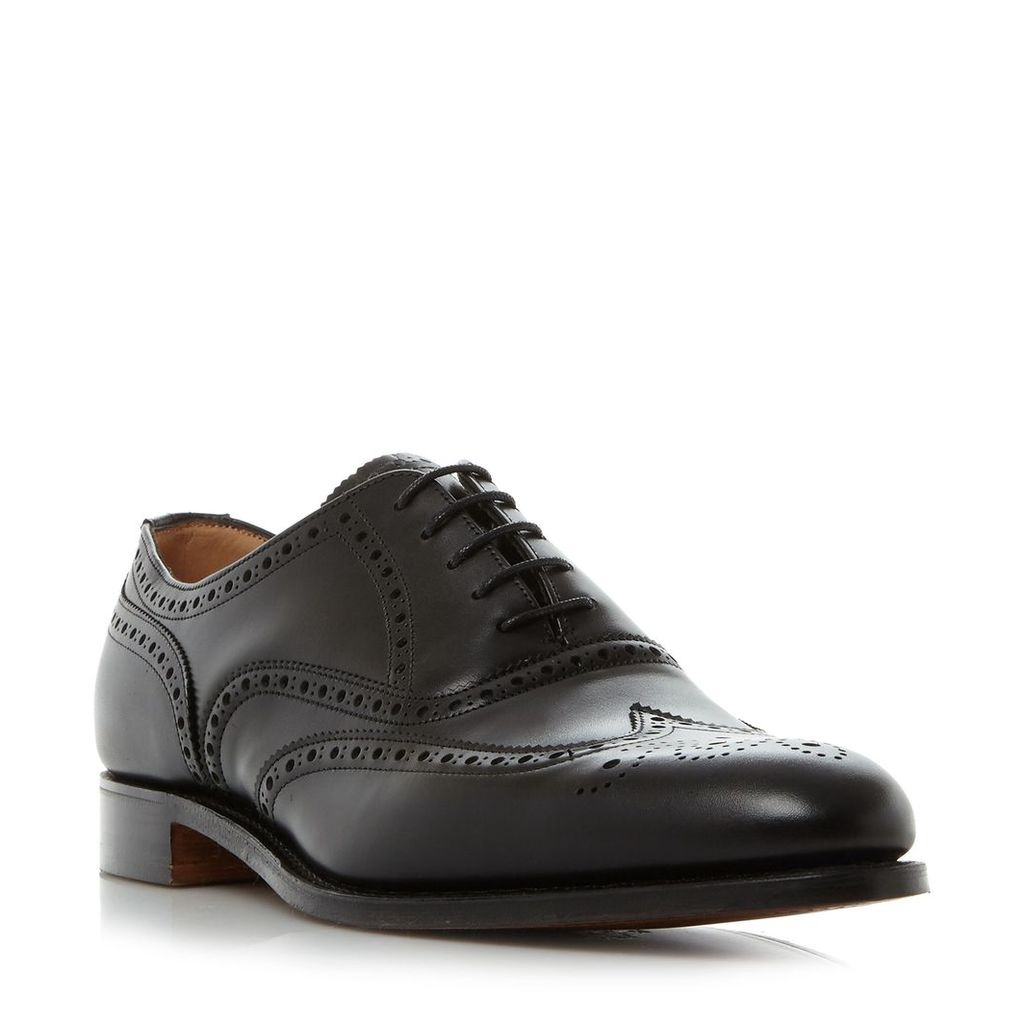 Cheaney Mens Broad ii wingtip oxford brogue shoes, Black