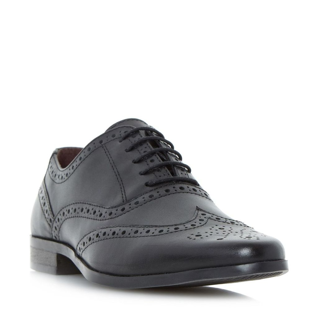 Howick Power pointed oxford brogue shoes, Black