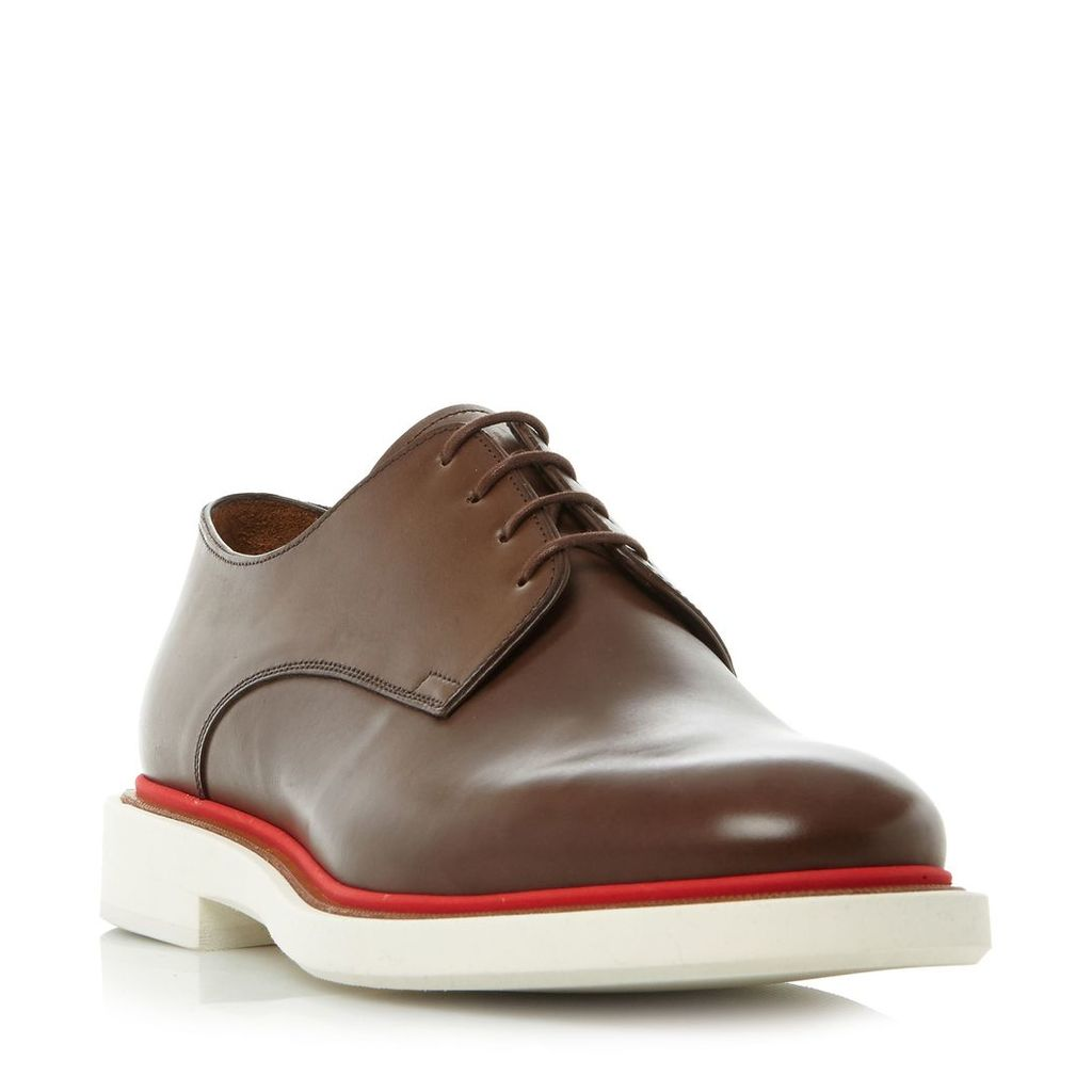 Paul Smith Senior coloured welt gibson shoes, Brown
