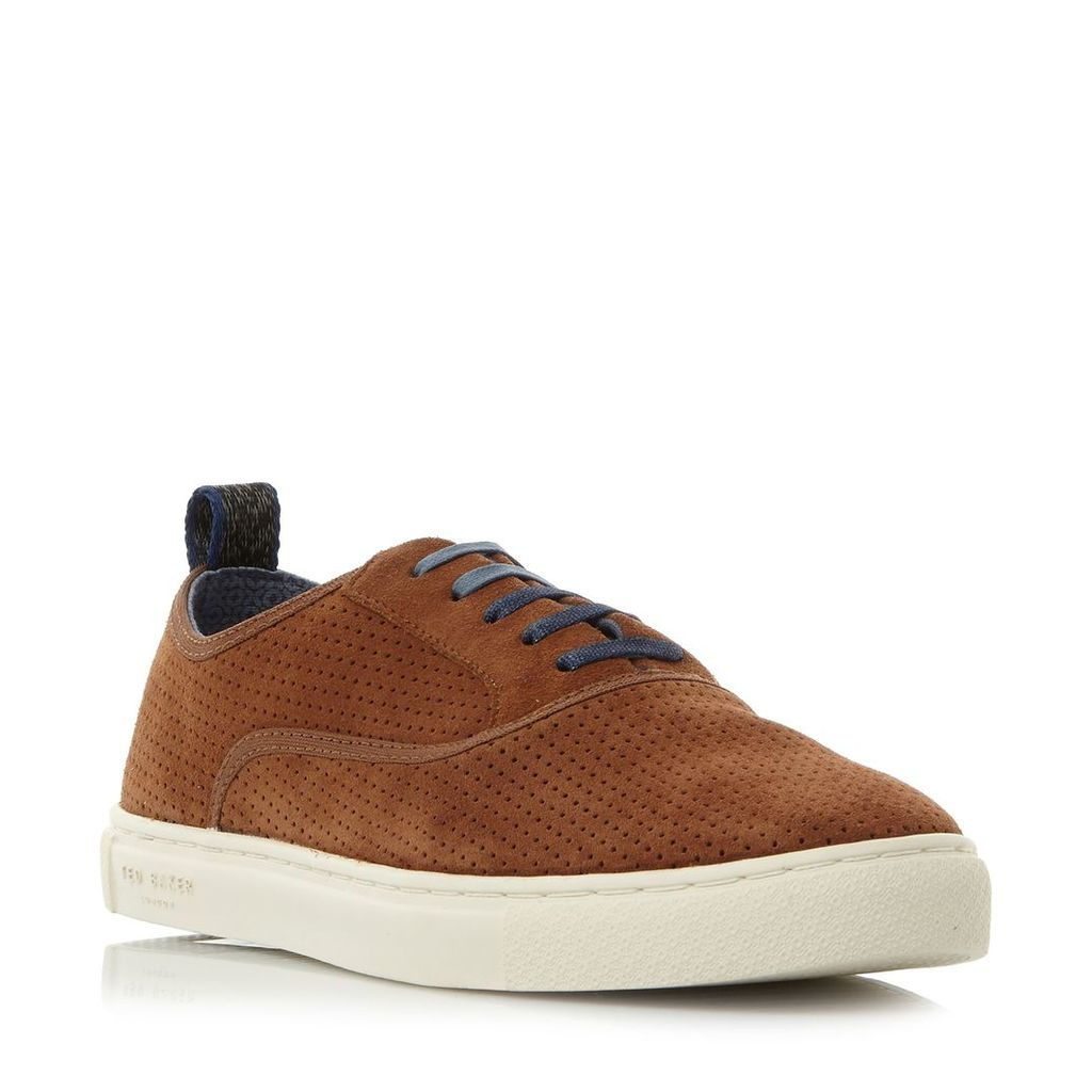 Ted Baker Odonel perforated suede sneakers, Tan