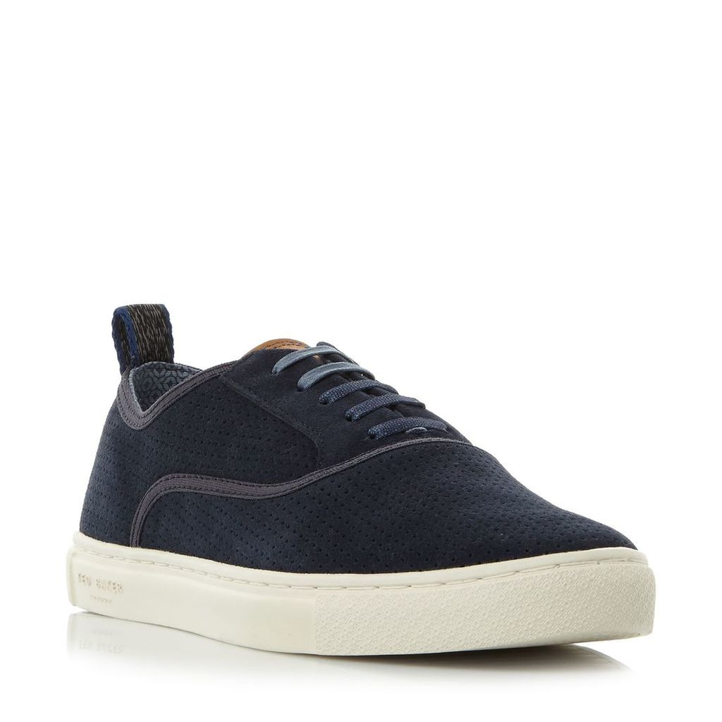 Ted Baker Odonel perforated suede sneakers, Navy