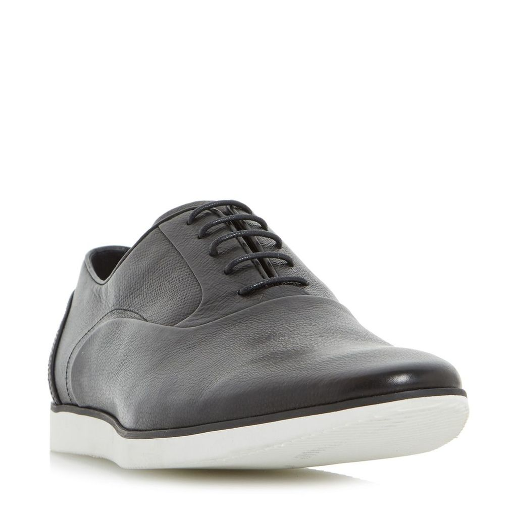 Dune Boston casual wedge sole oxford shoes, Black