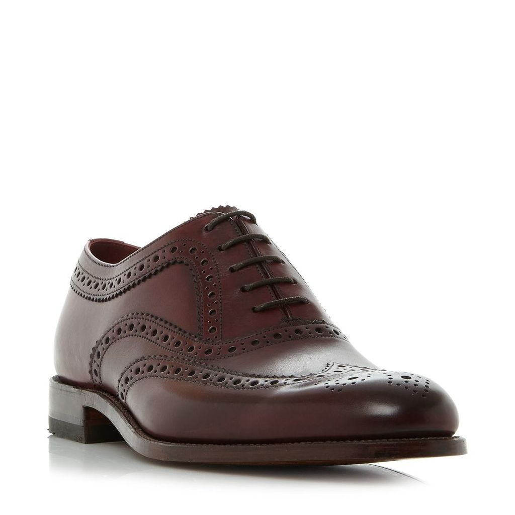 Loake Lace Up Formal Brogues, Burgundy