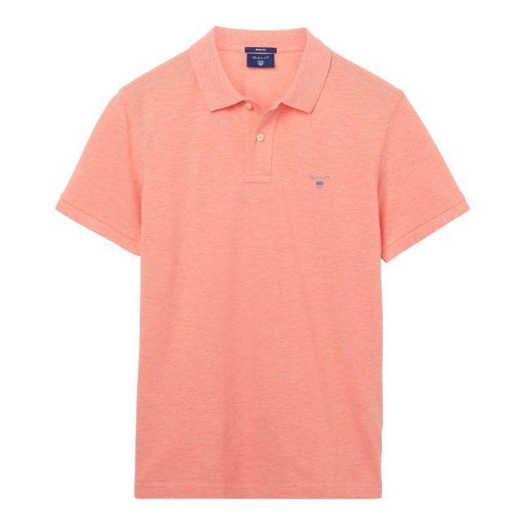 Polo Shirt - Shell Pink Melange