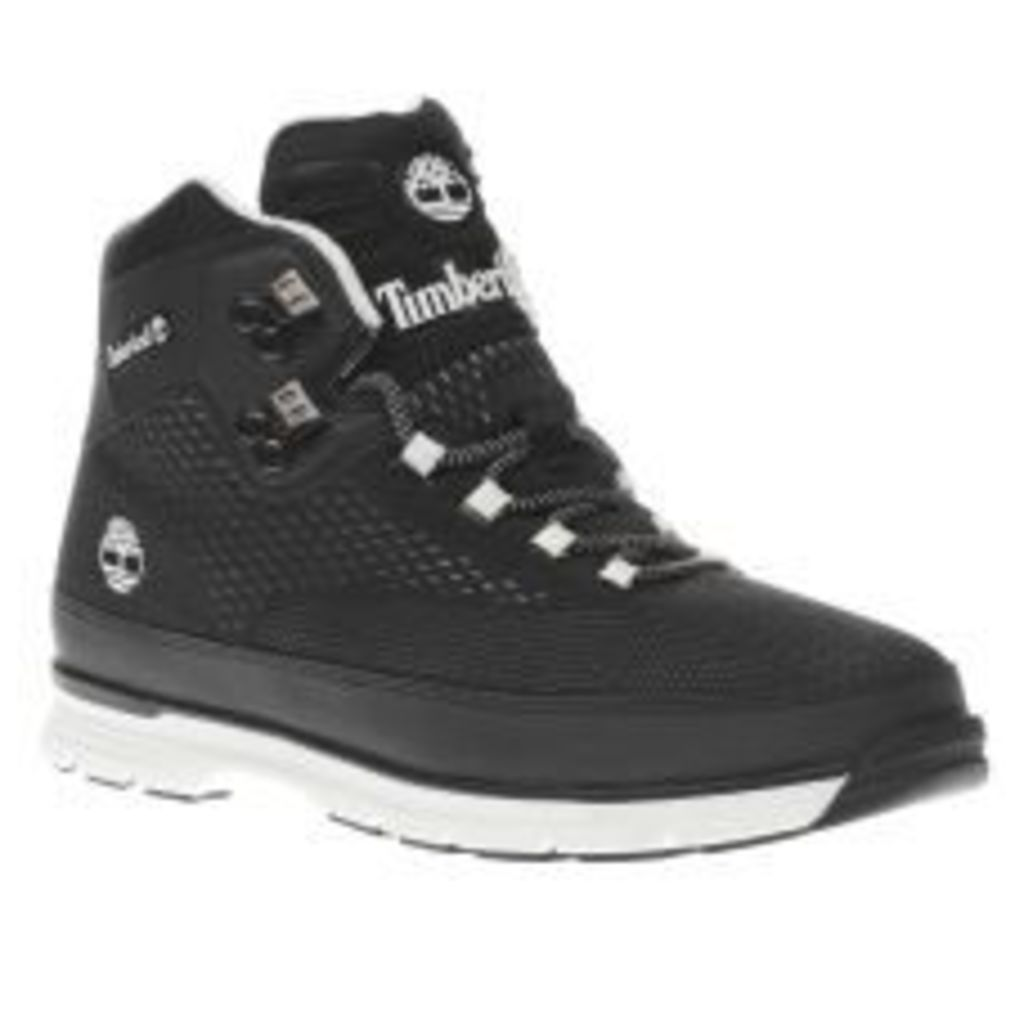 Timberland Black Euro Hiker Spacer Boots