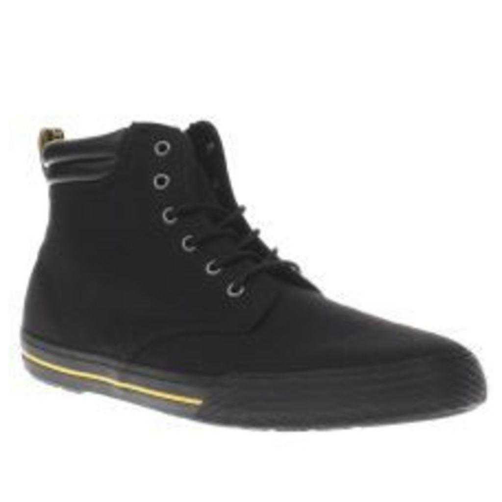 Dr Martens Black Eason Canvas Boots