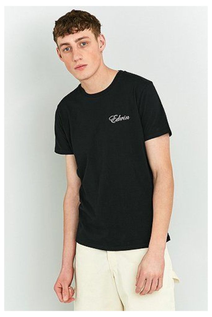 Edwin So Far So Good Black T-shirt, Black
