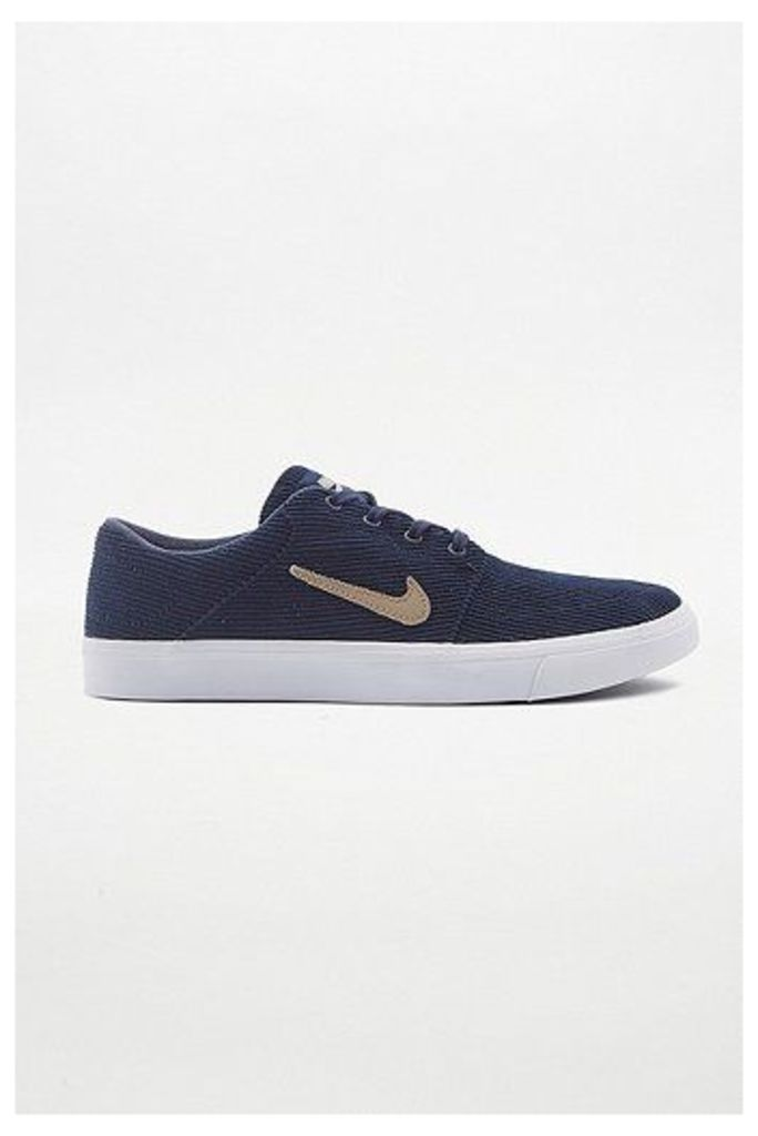 Nike SB Portmore Obsidian Canvas Trainers, Navy