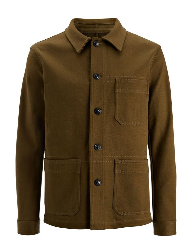 Military Jersey Abbots Jacket in Military