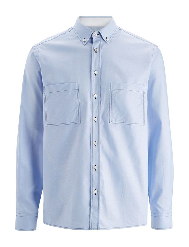 Oxford Shirting Coates Shirts in Sky Blue