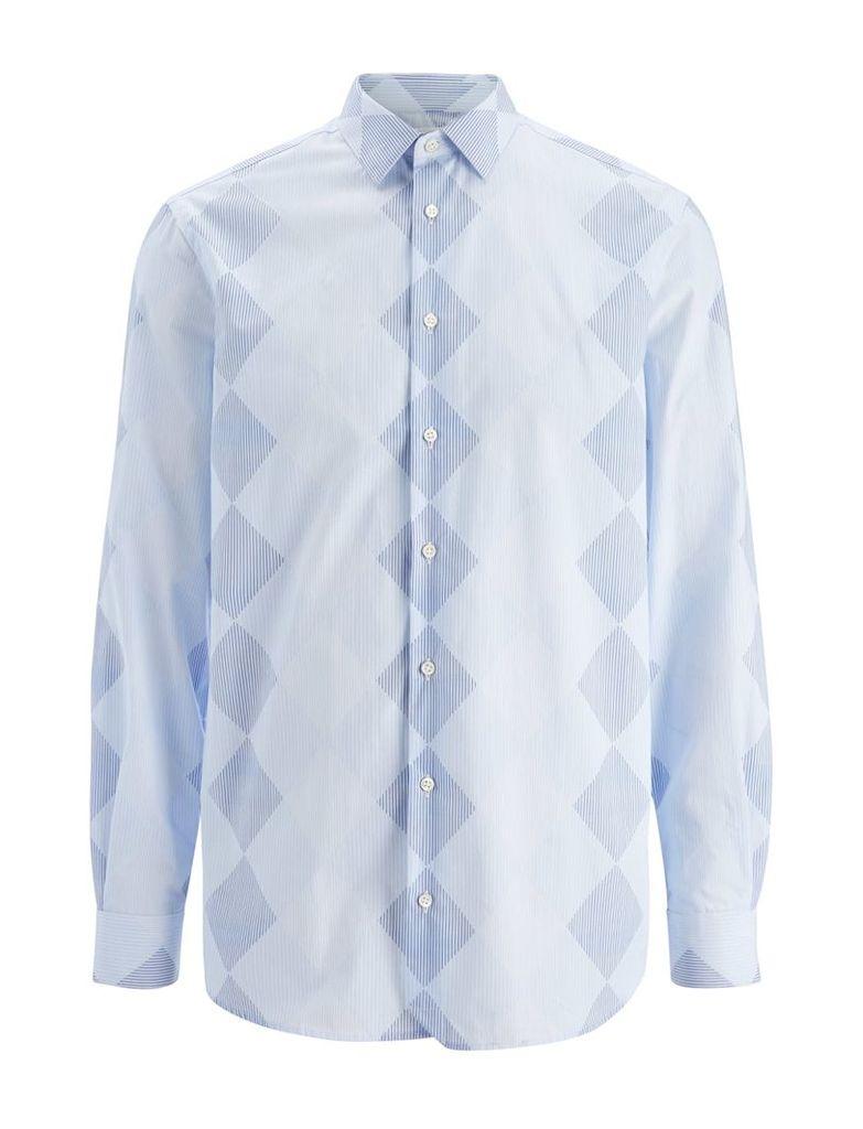 Argyle Stripe John Shirt in Blue