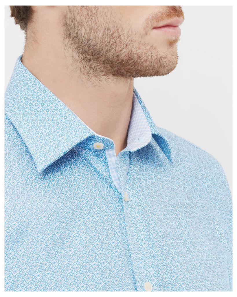 Ted Baker Floral cotton shirt Blue