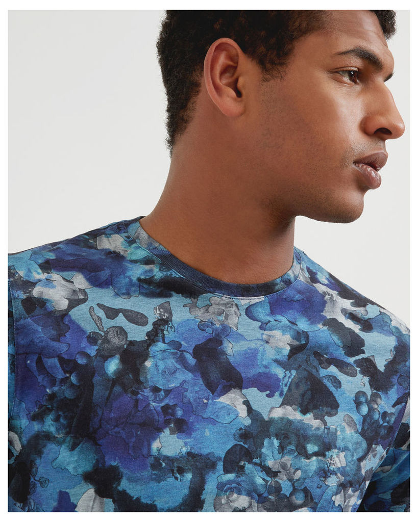 Ted Baker Camouflage cotton T-shirt Blue