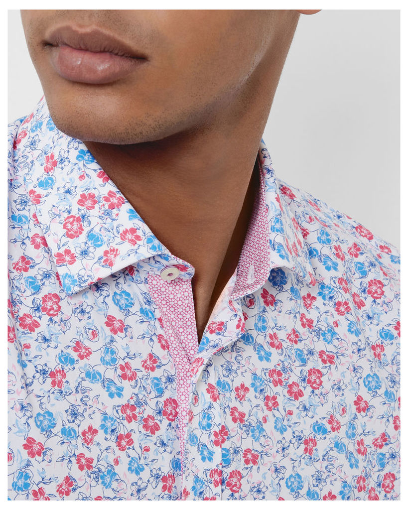 Ted Baker Floral cotton shirt Pink