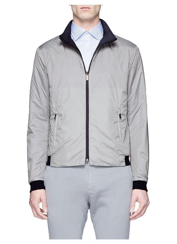 Reversible crinkled jacket