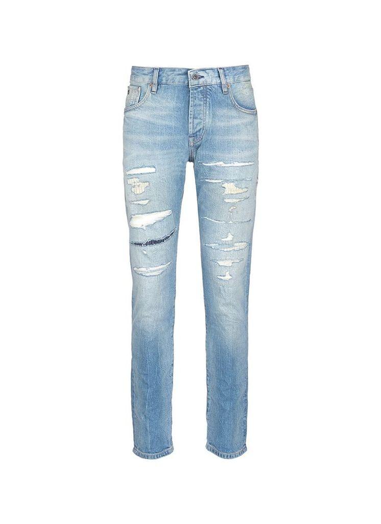 'Ralston' slim fit distressed jeans