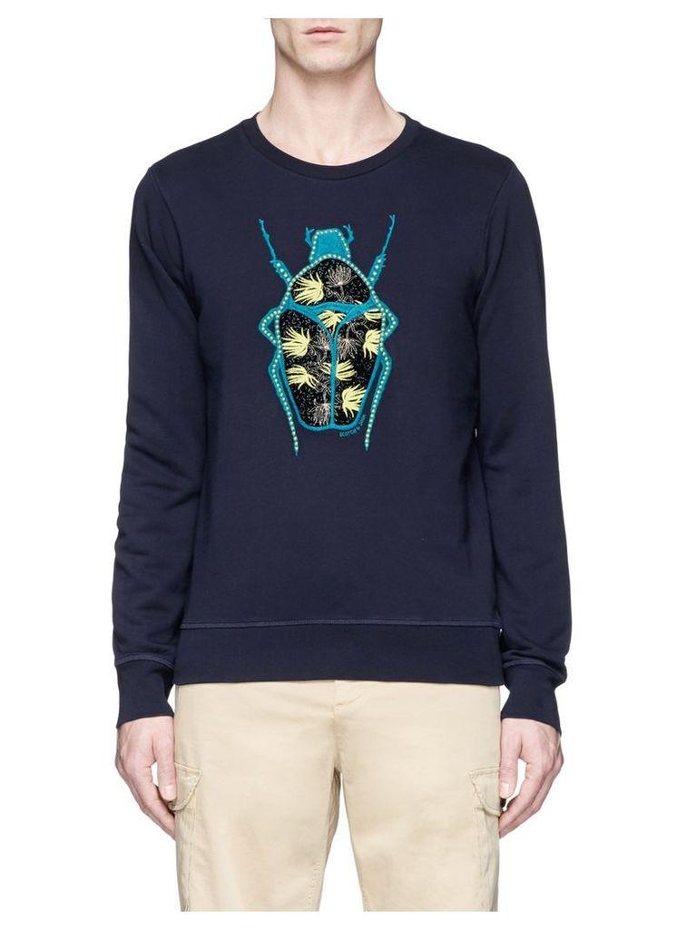 Beetle appliqué cotton sweatshirt