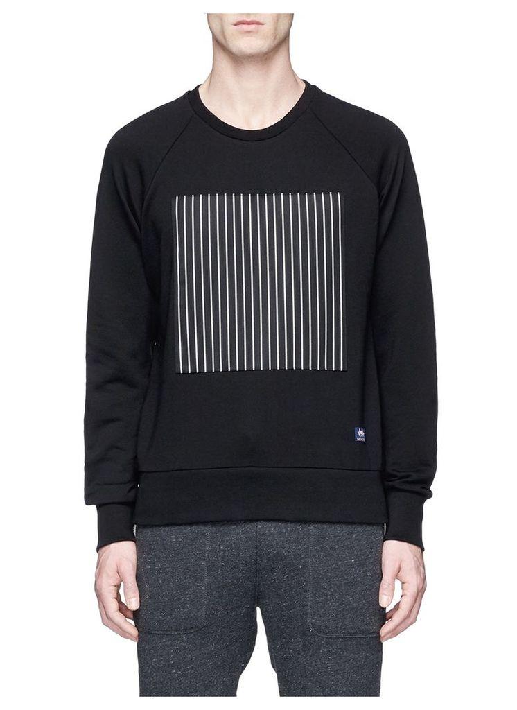 'Rowing' stripe appliqué cotton sweatshirt