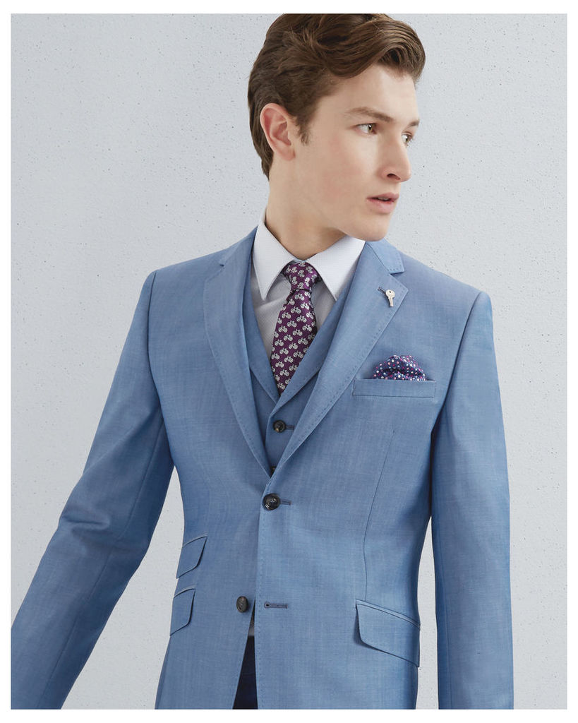 Ted Baker Classic fit wool jacket Light Blue