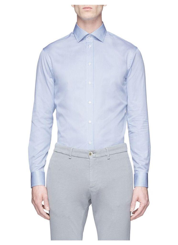 Stripe cotton poplin shirt
