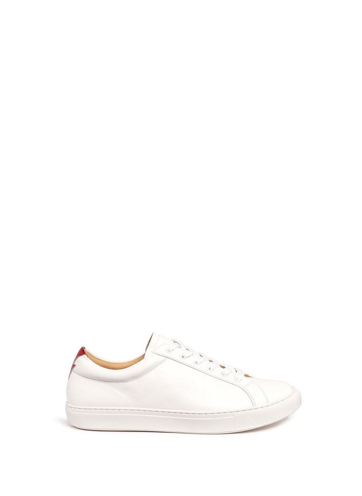 'Wimbledon' thunderbolt patch leather sneakers