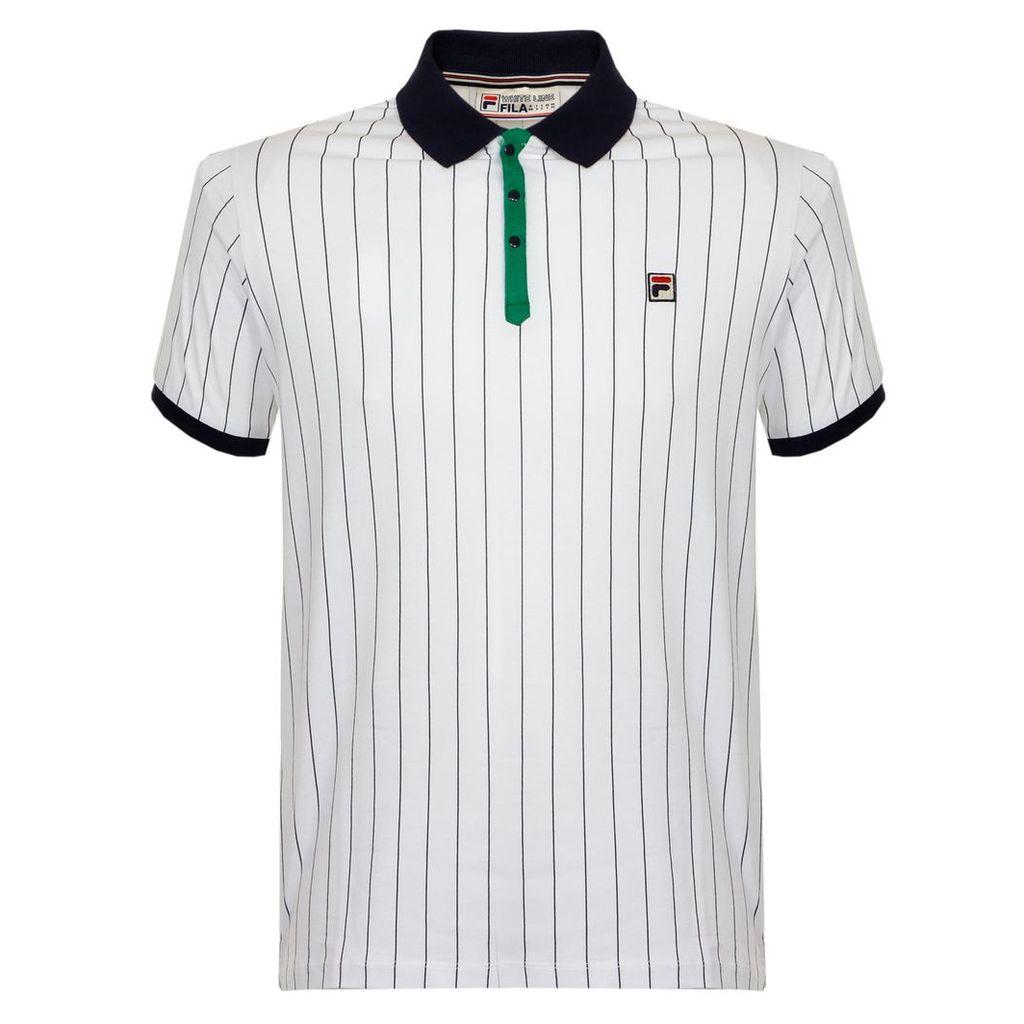 Fila BB1 White Peacoat Polo Shirt SS17VGM016