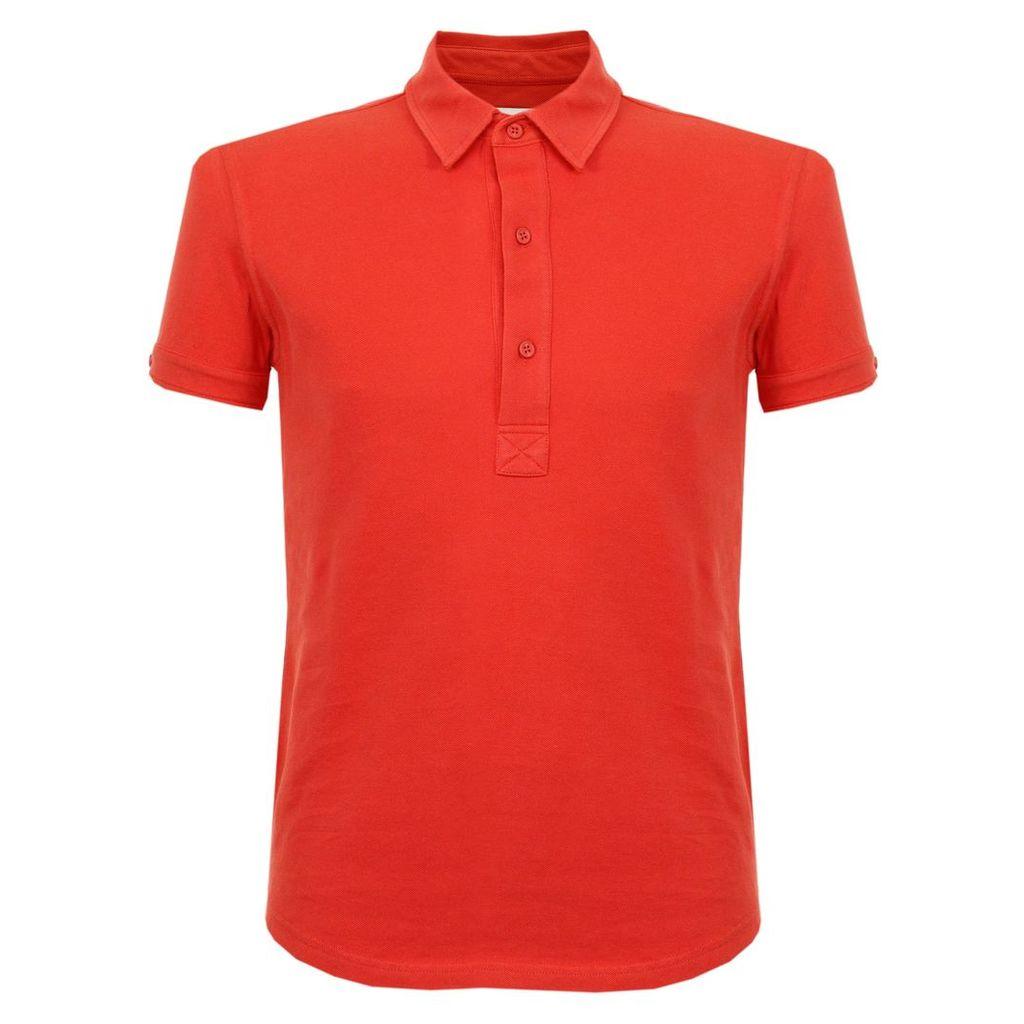 Orlebar Brown Sebastian Pomodoro Pique Polo Shirt 264977