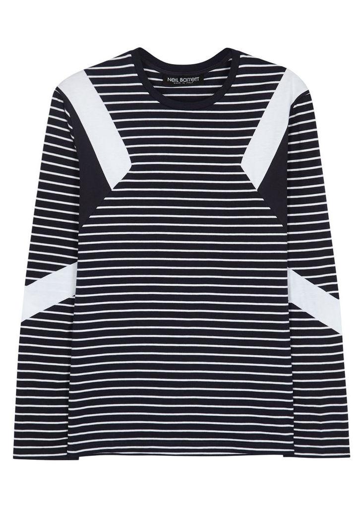 Mod striped cotton top