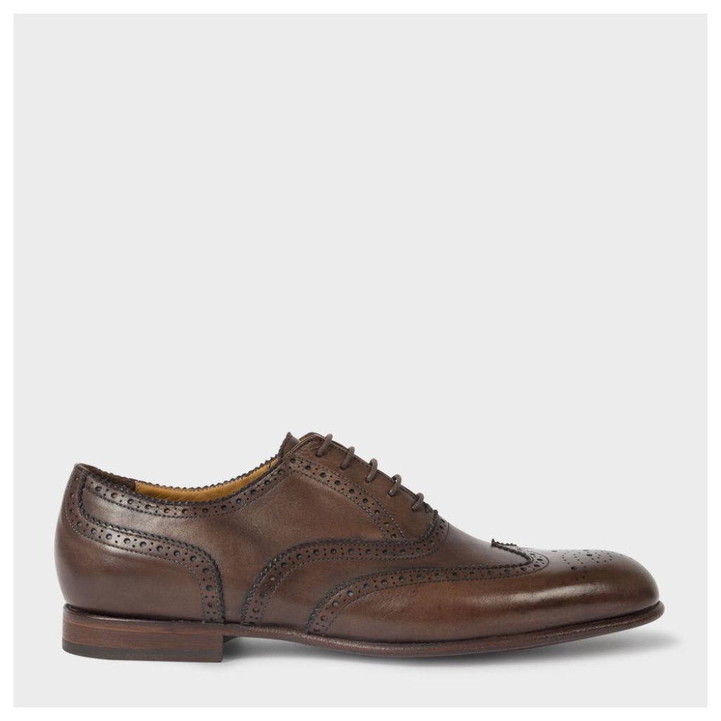 Men's Dip-Dyed Brown Calf Leather 'Scott' Brogues