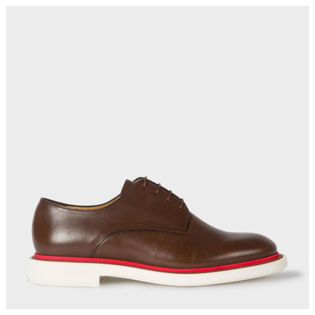 Men's Brown Leather 'Senior' Derby Shoes